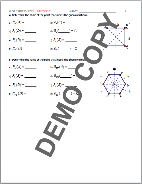Composite Transformation Geometry Worksheets. Math Worksheet ...