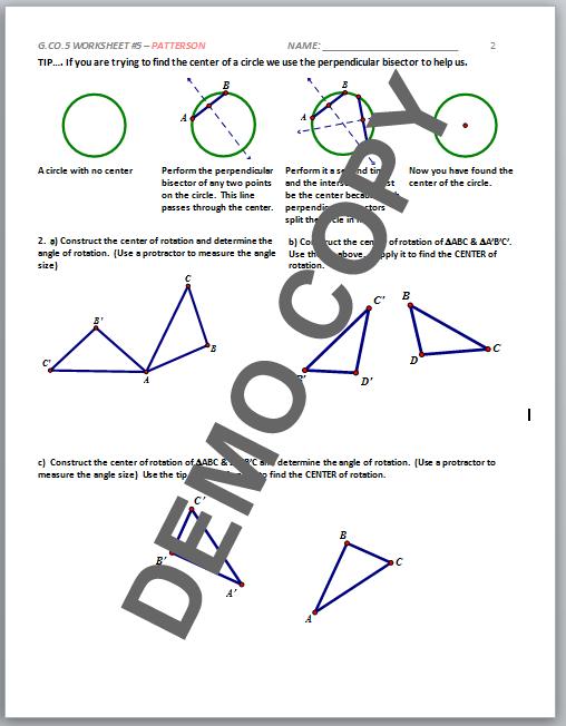Free Worksheets Geometry G Rotations Worksheet 1 Math. Free Worksheets Geometry G Rotations Worksheet 1 High School Mon Core Gco. Worksheet. Geometry G Rotations Worksheet 1 Answers At Clickcart.co