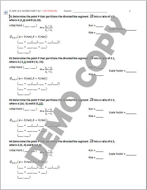 high school geometry common core g gpe b 6